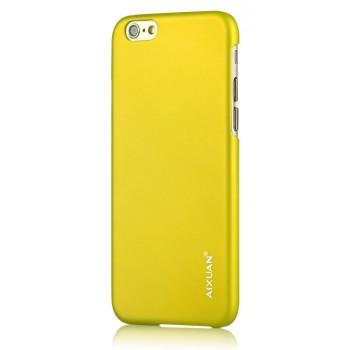 Пластиковый непрозрачный матовый чехол для Iphone 6 Plus Зеленый