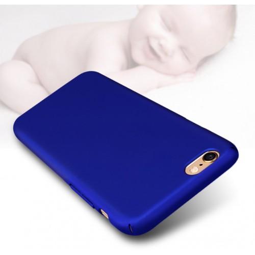 Пластиковый непрозрачный матовый чехол с улучшенной защитой элементов корпуса для Iphone 6 Plus Синий