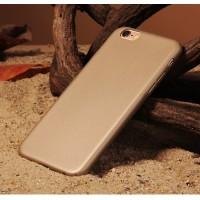 Пластиковый непрозрачный матовый чехол с повышенной шероховатостью для Iphone 6 Plus Бежевый