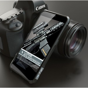 Металлический округлый премиум бампер на винтах для Huawei Honor 8 Черный