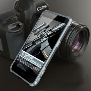 Металлический округлый премиум бампер на винтах для Huawei Honor 8 Серый
