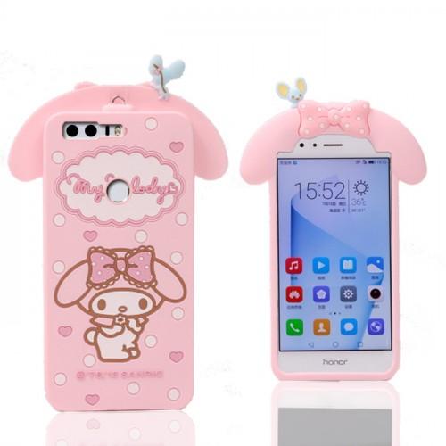 Силиконовый матовый непрозрачный дизайнерский фигурный чехол для Huawei Honor 8