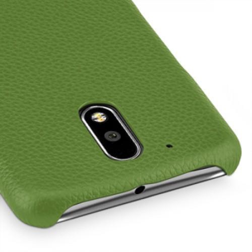 Кожаный чехол накладка (премиум нат. кожа) для Lenovo Moto G4