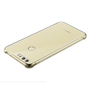 Оригинальный пластиковый транспарентный чехол для Huawei Honor 8 Бежевый