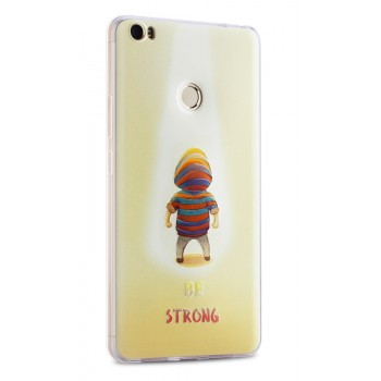 Силиконовый матовый непрозрачный чехол с объемно-рельефным принтом для Xiaomi Mi Max