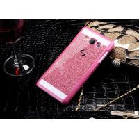 Пластиковый матовый непрозрачный чехол с металлическим напылением для Samsung Galaxy Grand Prime Пурпурный