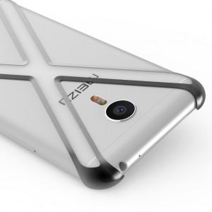 Пластиковый полупрозрачный чехол каркас для Meizu M3 Note