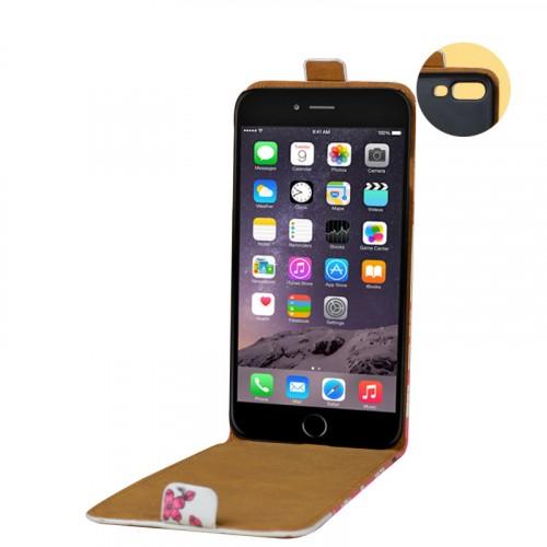 Чехол вертикальная книжка на пластиковой основе с полноповерхностным принтом на магнитной защелке для Iphone 7 Plus/8 Plus