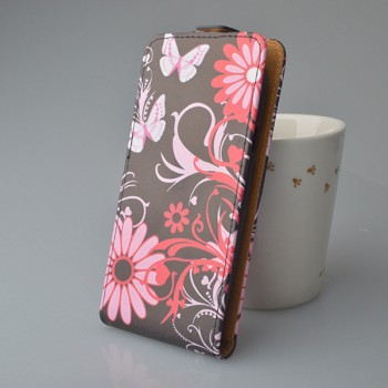 Чехол вертикальная книжка на пластиковой основе с полноповерхностным принтом на магнитной защелке для Iphone 7