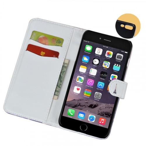 Чехол горизонтальная книжка подставка на пластиковой основе с отсеком для карт и полноповерхностным принтом на магнитной защелке для Iphone 7 Plus/8 Plus