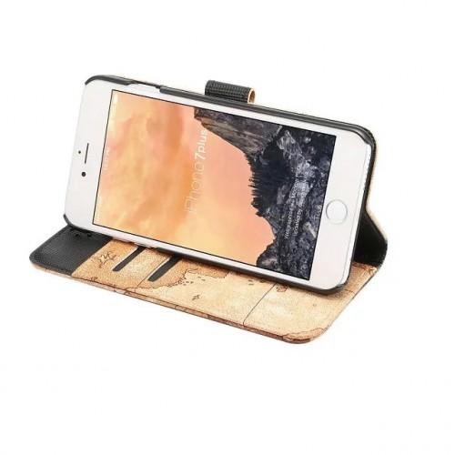 Чехол портмоне подставка на пластиковой основе с полноповерхностным принтом на магнитной защелке для Iphone 7 Plus/8 Plus