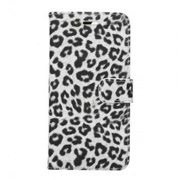 Чехол портмоне подставка текстура Леопард на пластиковой основе на магнитной защелке для Iphone 7 Plus/8 Plus