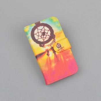 Чехол портмоне подставка на пластиковой основе с полноповерхностным принтом на магнитной защелке для Huawei Y6II