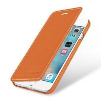 Кожаный чехол горизонтальная книжка (премиум нат. кожа) для Iphone 7 Plus/8 Plus