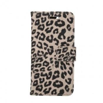 Чехол портмоне подставка текстура Леопард на пластиковой основе на магнитной защелке для Iphone 7/8