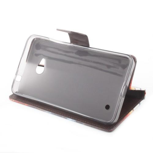Чехол портмоне подставка на силиконовой основе с полноповерхностным принтом на магнитной защелке для Microsoft Lumia 640