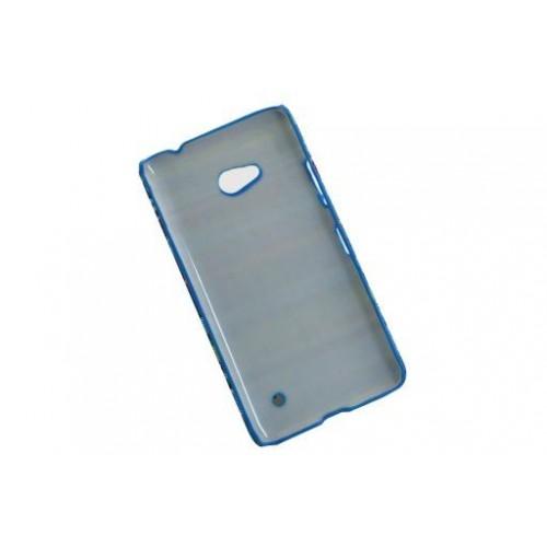 Пластиковый непрозрачный чехол с тканевым текстурным покрытием для Microsoft Lumia 640