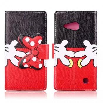 Чехол портмоне подставка на силиконовой основе с полноповерхностным принтом на дизайнерской магнитной защелке для Nokia Lumia 730/735