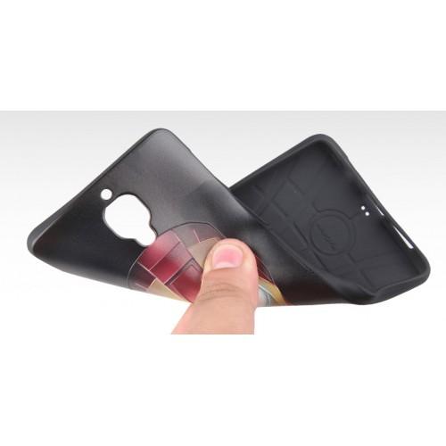 Силиконовый матовый непрозрачный чехол с объемно-рельефным принтом для OnePlus 3