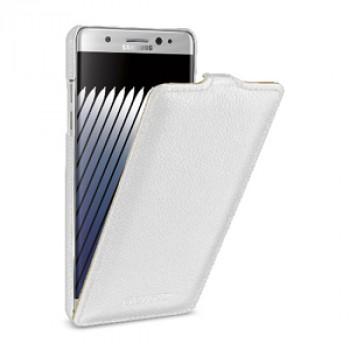 Кожаный чехол вертикальная книжка (премиум нат. кожа) для Samsung Galaxy Note 7