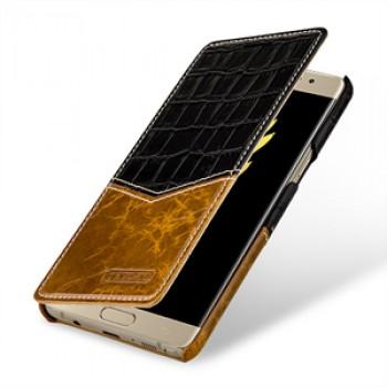 Кожаный чехол горизонтальная книжка (2 вида премиум нат. кожи) для Samsung Galaxy Note 7
