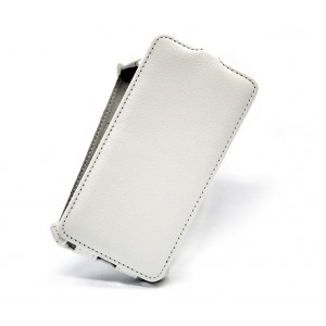 Вертикальный чехол-книжка для Samsung Galaxy E7 Белый
