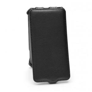Вертикальный чехол-книжка для Samsung J1 Черный