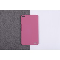 Пластиковый матовый непрозрачный чехол для Huawei MediaPad X2 Розовый