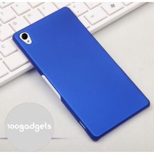 Пластиковый матовый грязестойкий чехол для Sony Xperia Z3 Синий