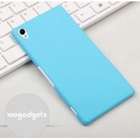 Пластиковый матовый грязестойкий чехол для Sony Xperia Z3 Голубой