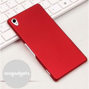Пластиковый матовый грязестойкий чехол для Sony Xperia Z3 Красный