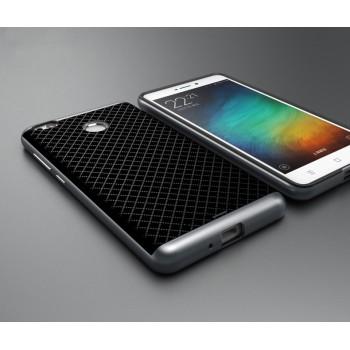 Двухкомпонентный силиконовый матовый непрозрачный чехол с поликарбонатным бампером для Xiaomi RedMi 3 Pro/3S Серый