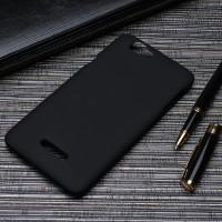 Пластиковый матовый непрозрачный чехол для Explay Fresh Черный