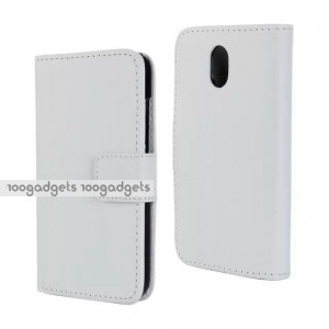 Чехол портмоне подставка с защелкой для HTC Desire 210 Белый
