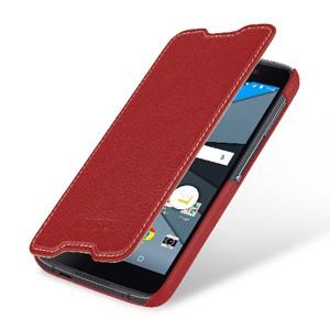 Кожаный чехол горизонтальная книжка (премиум нат. кожа) для BlackBerry DTEK50