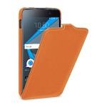Кожаный чехол вертикальная книжка (премиум нат. кожа) для BlackBerry DTEK50