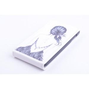 Чехол вертикальная книжка на пластиковой основе с полноповерхностным принтом на магнитной защелке для Lenovo P780