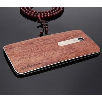 Экстратонкая клеевая натуральная деревянная накладка для Lenovo Moto X Force