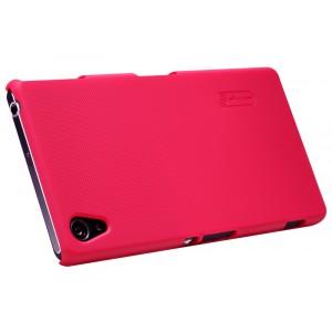 Пластиковый матовый премиум нескользящий чехол для Sony Xperia Z3 Красный
