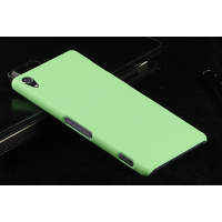 Пластиковый чехол серия Metallic для Sony Xperia Z3 Зеленый