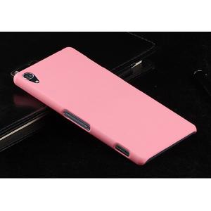 Пластиковый чехол серия Metallic для Sony Xperia Z3 Розовый