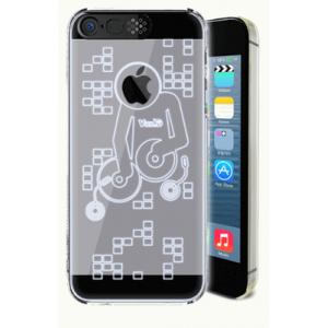 Транспарентный пластиковый чехол со светорассеивающим принтом и шторкой для вспышки для Iphone 6