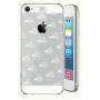 Транспарентный пластиковый чехол со светорассеивающим принтом и шторкой для вспышки для Iphone 6 / 6 Plus