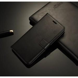 Чехол портмоне подставка на пластиковой основе на магнитной защелке для Lenovo S90 Черный