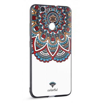 Силиконовый матовый непрозрачный чехол с объемным принтом для Huawei Nova