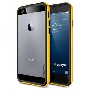 Премиум двухосновный силикон-пластик бампер для Iphone 6 Желтый