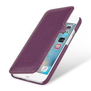 Кожаный чехол горизонтальная книжка (премиум нат. кожа) с крепежной застежкой для Iphone 7/8