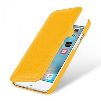 Кожаный чехол горизонтальная книжка (премиум нат. кожа) с крепежной застежкой для Iphone 7