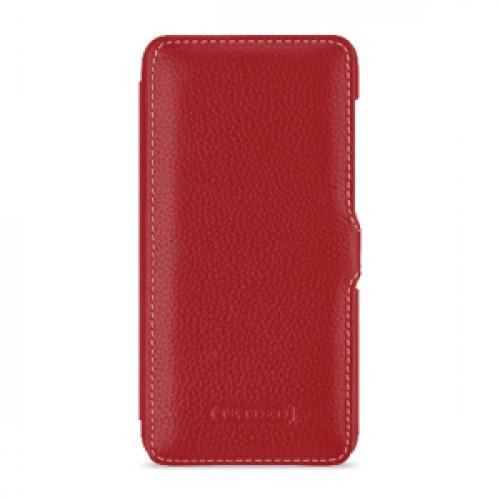 Кожаный чехол горизонтальная книжка (премиум нат. кожа) с крепежной застежкой для Huawei Honor 8