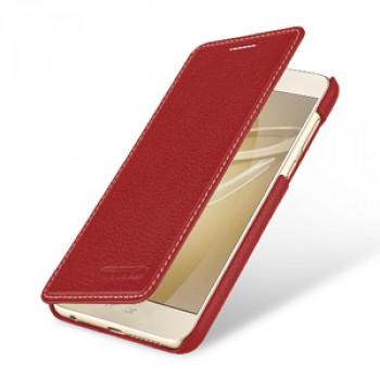Кожаный чехол горизонтальная книжка (премиум нат. кожа) для Huawei Honor 8